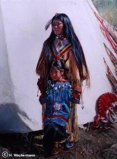 native american paintings Hubert Wackermann | ༺ ♠ ༻*ŦƶȠ*༺ ♠ ༻