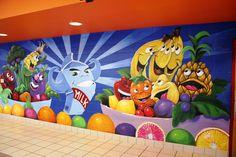 Custom Made Elementary Lunch Room Wall Murals
