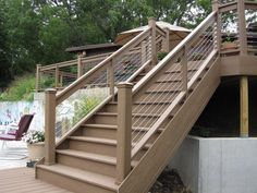 Awesome Mixing Wood With Stainless Steel Cable Infill Offers A Unique Look For Any  Deck Application.
