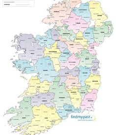 Click to view the findmypast Registration Districts Map