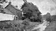 Old photograph of Mains Fall Mill by Eaglesham near Glasgow , Scotland . The original Mill dates to before In the Mill building . Old Photographs, Old Photos, Glasgow, Scotland, Maine, Tours, Country, Fall, Outdoor