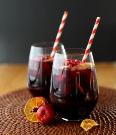 Winter Sangria with citrus & pomegranate