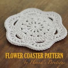 Crochet Coaster Pattern - Flower Coaster - PDF