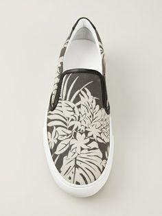 MONCLER - Black and white Malibu slip-on #moncler #monclershoes #monclerforhim #jofré