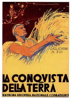 "Cambellotti duilio - Fascism - ""The conquest of the earth"""