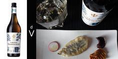 La Quintinye Vermouth Royal Blanc y boquerón en tempura.