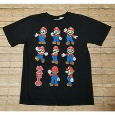 Boys Super Mario Bros Graphic Tshirt L 14/16