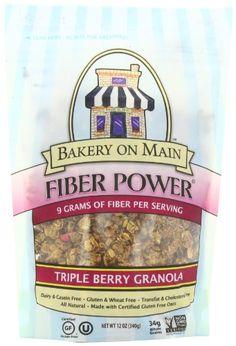 Bakery On Main Fiber Power Gluten Free Granola, Triple Berry, 12-Ounce (Pack of 3) Bakery On Main http://www.amazon.com/dp/B00474G7KW/ref=cm_sw_r_pi_dp_a0Edub0FQJ79B