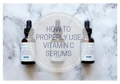 GET THE MOST OUT OF YOUR VITAMIN C SERUM | Do you know how to properly use antioxidant serums? If you Google how to use Vitamin C you'll likely find a mix of opinions, particularly on beauty forums. The goal here is to clarify and provide guidelines for you to get the most out of your Vitamin C serum. Click through to find everything you ever wanted to know and stop wasting product!