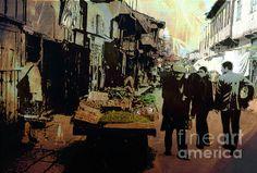 Title  Streetscene   Artist  Cathy Anderson   Medium  Digital Art - Digital Art