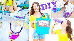 Back To School DIY School Supplies | Shoes, Gym Bag, + Water Bottle!