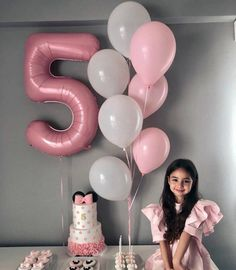 Birthday Party Decorations Diy, 9th Birthday Parties, Diy Birthday, Happy Birthday, Birthday Girl Pictures, Foto Baby, Birthday Balloons, Number Balloons, Foil Balloons
