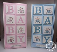 """Baby - so cute! And add the word """"welcome"""" plus name, date of birth and weight to the boxes to make it personal"""
