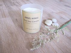 ANGEL WINGS - Eco & Handmade Soy Candle      Notice the clean powdery bouquet of rose, jasmin and hawthorne with     sweet notes of vanilla & musk on a woody base.  Handmade and poured with natural eco soy wax by Velvety in Bunyip,  Australia.  Our tumblers burn for approximately 33 hours and hold 165 gr of eco soy  wax.        * SHIPPING INFORMATION     * EMAIL ME WHEN BACK IN STOCK