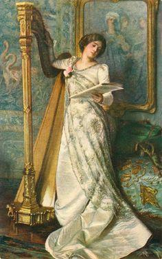 Harp Audition by Moritz von Schwind (Austrian, 1804-1871)