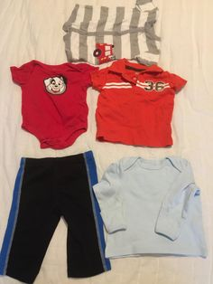 Two onesies, two shirts and one pair of pants.