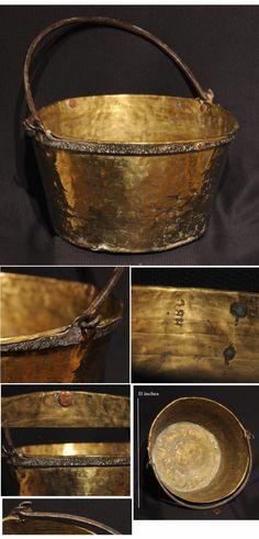 Rare MARKED Hudson's Bay Trade Kettle, ca. 1700's