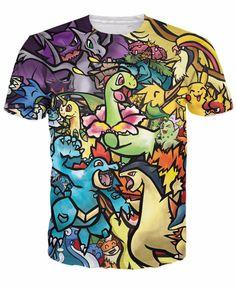 Pokemon 3D Mashup T-Shirt World of Ash    #WorldOfAsh #PokemonGO #Pokemon