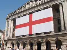 The largest St George's flag in England?