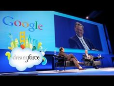 Marc Benioff and Eric Schmidt at Dreamforce 2011