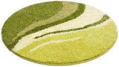 Details:  Grafisch gemustert, Ringsum eingefasst, gekettelt, Fussbodenheizungsgeeignet,  Qualität:  1,8 kg/m² Gesamtgewicht (ca.), 25 mm Gesamthöhe (ca.), Waschbar bei 40°C, Latexierter Rücken, Trocknergeeignet,  Flormaterial:  100 % Polyacryl,  Wissenswertes:  Die runde Matte eignet sich auch ideal als Duschvorleger,  ...