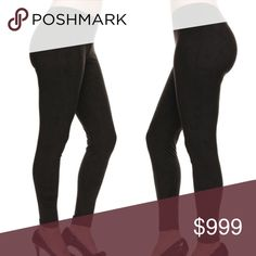 🎁Just in!!! Suede Leggings!!! Suede leggings just arrived! These have an elastic waistband and skinny leg. Super soft and comfy! 100% cotton. Sizes S/M and M/L available. Comes in original packaging- GREAT gift idea! 🎁 Pants Leggings