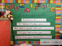 Giving feedback to each other through sentence frames- LOVE this to encourage valuable feedback to each other!