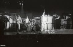 Roger Daltrey, Keith Moon, Pete Townshend performing live onstage at Ernst Merck Halle