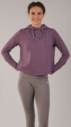 Keep warm in the coming months with the Gymshark Cross Back Hoodie. Coming soon in Purple Wash. #gymshark