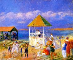 The Bandstand 1919 William Glackens - (American, 1870 - 1938) location Museum of Art, Fort Lauderdale (United States - Fort Lauderdale, Florida)