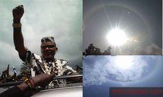 Biafra – Apparition Around The Sun As Biafran Leader Nnamdi Kanu Wave To Multitude Of IPOB Waves, Sun, Celestial, Ocean Waves, Beach Waves, Wave, Solar