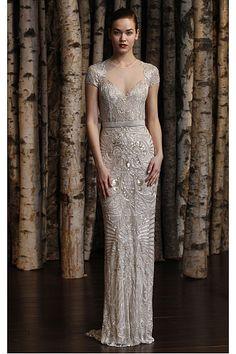Sheath Natural Tulle Jewel Short Sleeves Wedding Dresses