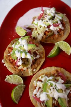 Reminds of the time spent in Playa. I can't wait to go back. But in the meantime,  cook from The Chew | Recipe  | Daphne Oz's Chicken Tostadas