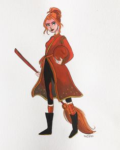Ginny Weasley. I had to design a new Quidditch outfit because I had not Internet…