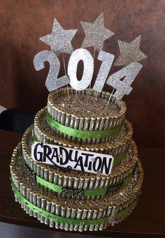 Graduation money cake!