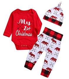 Amazon 10 Cute First Christmas Outfits for Newborn Baby Boys - Best Deals for Kids