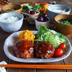 Plate Lunch, Morning Food, Aesthetic Food, Lunches And Dinners, Food Presentation, Food Plating, Japanese Food, Asian Recipes, Food Inspiration