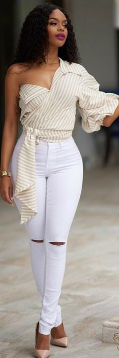 Elavate Your Basics //  Spring Fashion Idea by Chic Courture Online