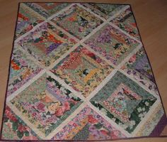 Flower Lap Quilt by squirrelshire on Etsy, $72.00