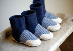 Wool Baby Shoes, Toddler Slippers, Sizes 6-18, 12-24 months, Giddyup. $36.00, via Etsy.