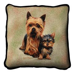 Yorkshire Terrier Dog and Puppy Pillow