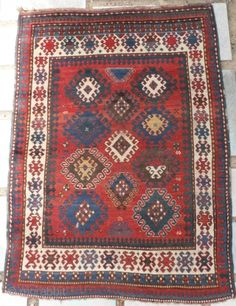 Caucasian Kazak Rug, as found, in very good condition,  mid 19th century.