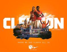 Clemson University: by Brett Gemas on Behance