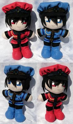 More Hearts plushies! And this is a pair I've been wanting for a long, long time~ I love the Bloody twins from Alice in the Country . Mini Plushies, Tweedle Dee and Dum Anime Diys, Pandora Hearts, Vampire Knight, Anime Artwork, My Character, Digimon, Plushies, Anime Characters, Chibi