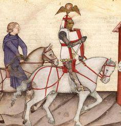 BNF Français 343 Queste del Saint Graal / Tristan de Léonois. 1380-1385, Milan, Italy. Bibliothèque Nationale. from http://manuscriptminiatures.com/4317/7109/