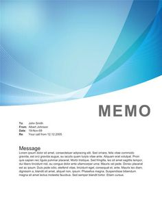 Green gradient memo design | Memo Template Free | Pinterest ...
