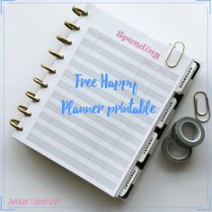 Free Happy Planner spending printable.  Print this out and put it in your Happy Planner with the a punch.