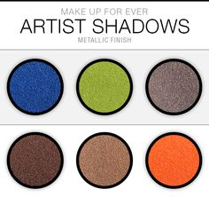 Swatch Saturday: Make Up For Ever Artist Shadows Photos & Swatches (Metallic Finish)
