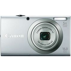 Canon PowerShot IS MP Digital Camera with Optizal Image Stabilized Zoom Wide-Angle Lens with HD Video Recording (Silver) Digital Slr, Digital Cameras, Digital Image, Smart Auto, Point And Shoot Camera, Canon Powershot, Wide Angle Lens, Canon Lens, Camera Settings