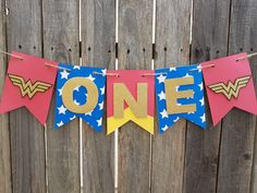 Birthday Woman Party Etsy Ideas For 2019 Baby Wonder Woman, Wonder Woman Birthday, Wonder Woman Party, Birthday Woman, Wonder Women, 1st Birthday Themes, Superhero Birthday Party, Girl First Birthday, First Birthday Parties